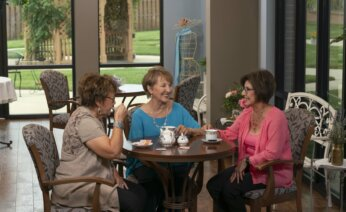 Group of women enjoying a cup of tea