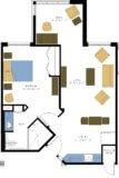 One Bedroom Plus Apartment Floor Plan