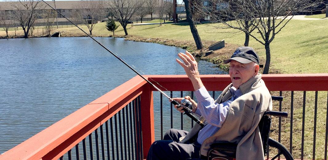 Resident fishing on the lake