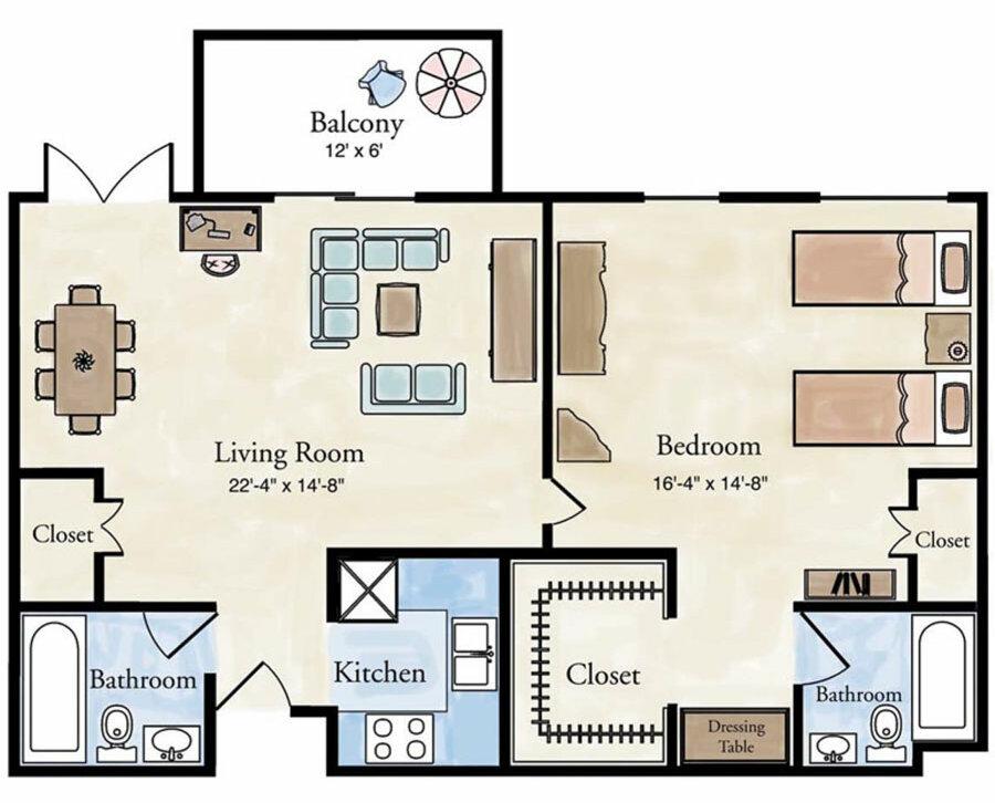 Classic 1 bedroom apartment