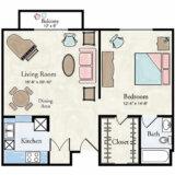 Deluxe Apartment Floor Plan