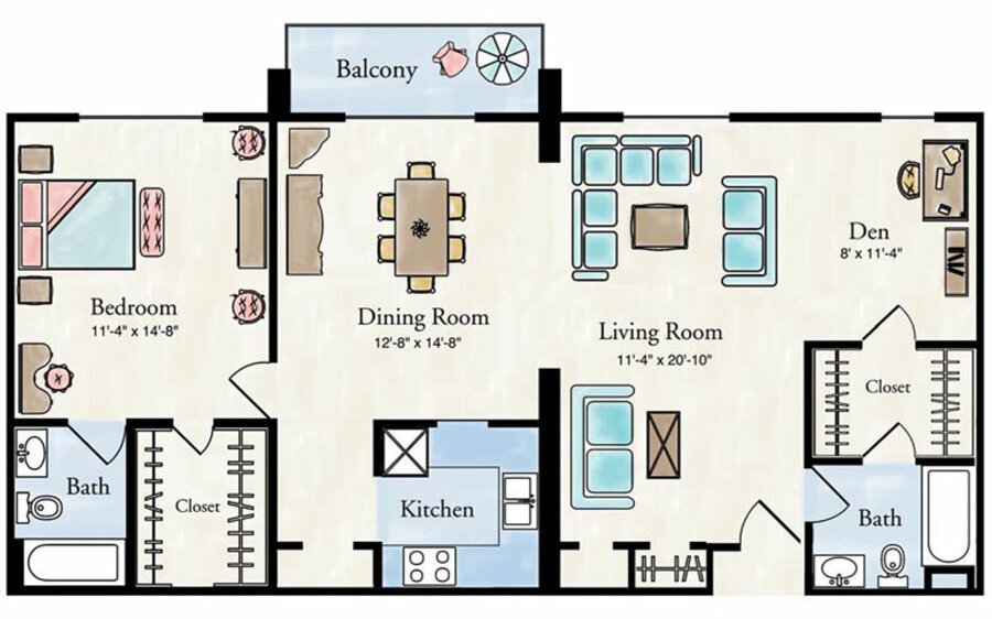 Elite 1 bedroom apartment