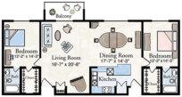 Super Deluxe Apartment Floor Plan