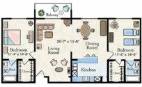 Grand Classic Apartment Floor Plan