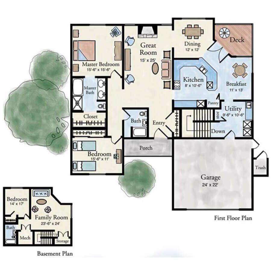 Trivoli 3 bedroom villa floor plan