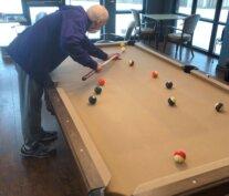 Bob Shrum Playing Pool